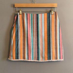H&M Multicolor Striped Mini Skirt